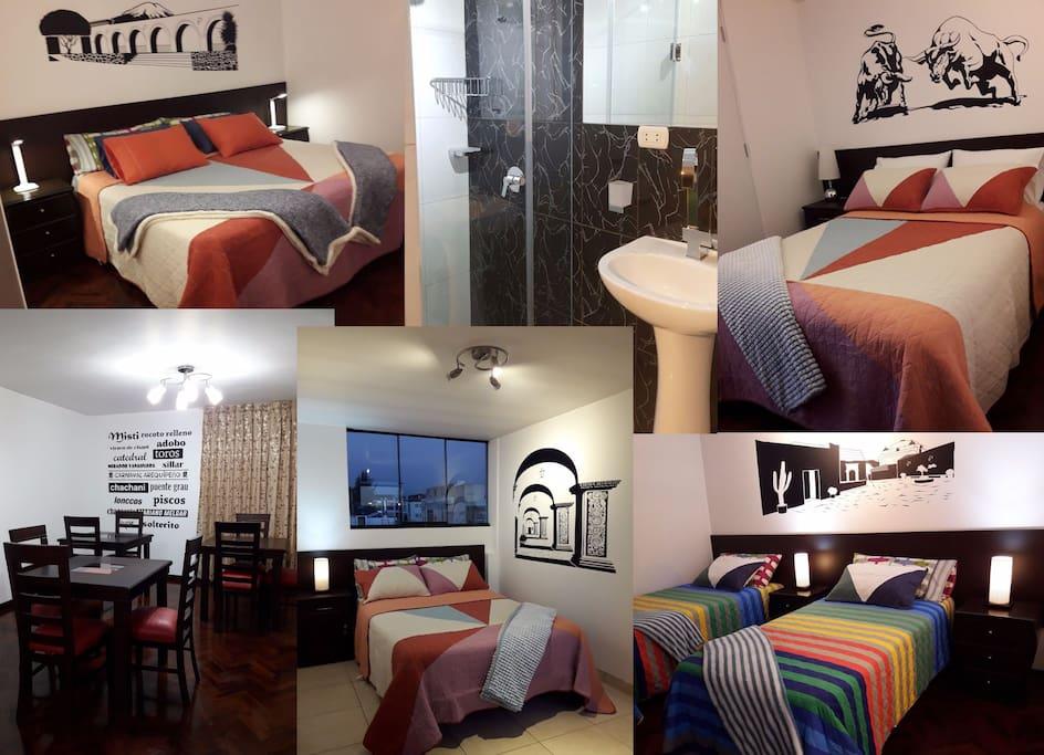 Habitaciones con ba o privado en casa moderna houses for Casa moderna naga city prices