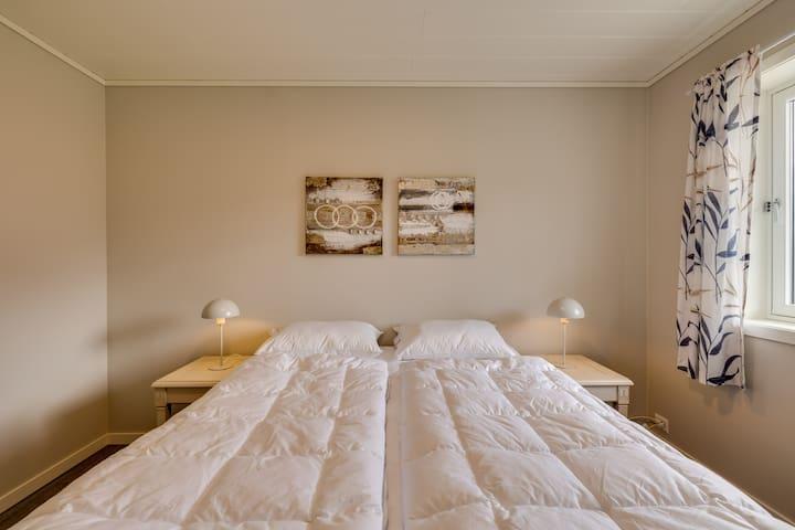 Ground floor bedroom. Queen size bed.