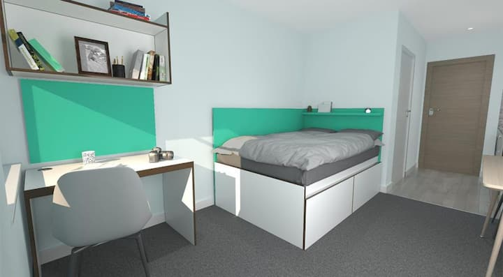 Student Only Property: Modern Essential Studio