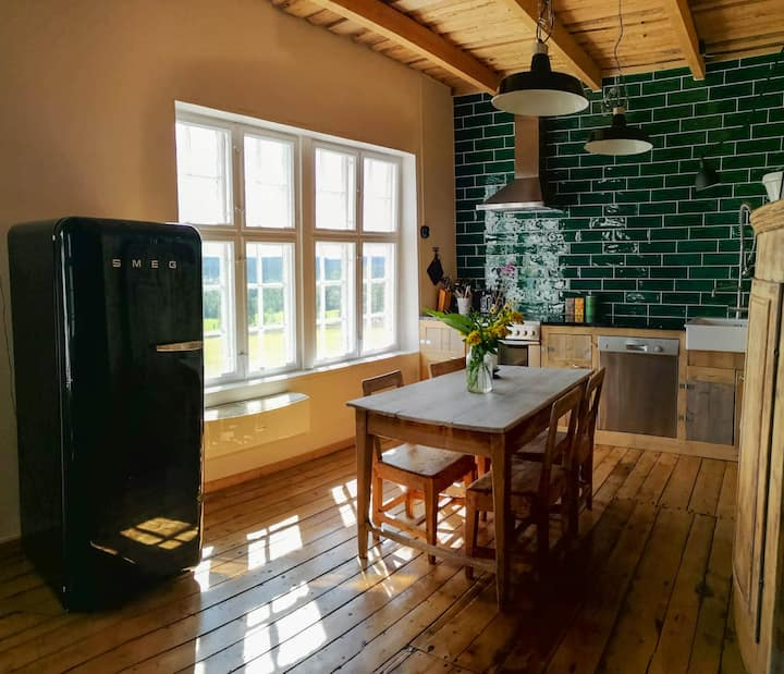 Spacious apartment in an old barn