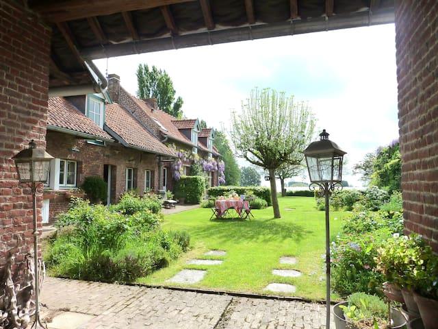 """""""La Ferme du Touquet"""" Cottage Lille to doors 10Kms - Wambrechies - Casa"""
