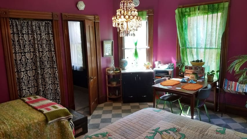 Guestroom in Whimsical Victorian Home