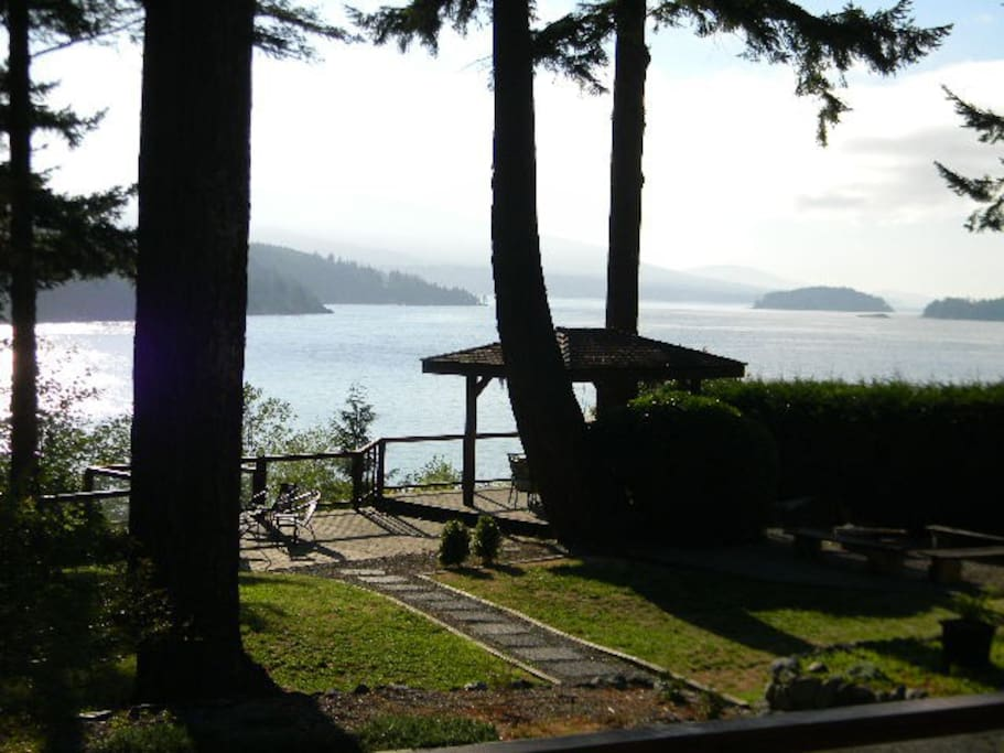 Incredible Views from the completely private 2 acre oceanfront property.
