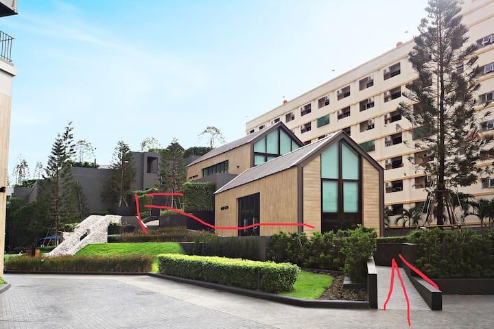 曼谷获奖网红小区,近拉查达火车夜市rama 9,近辉煌MRT,交通便利