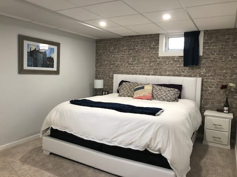 Newly updated cozy suite