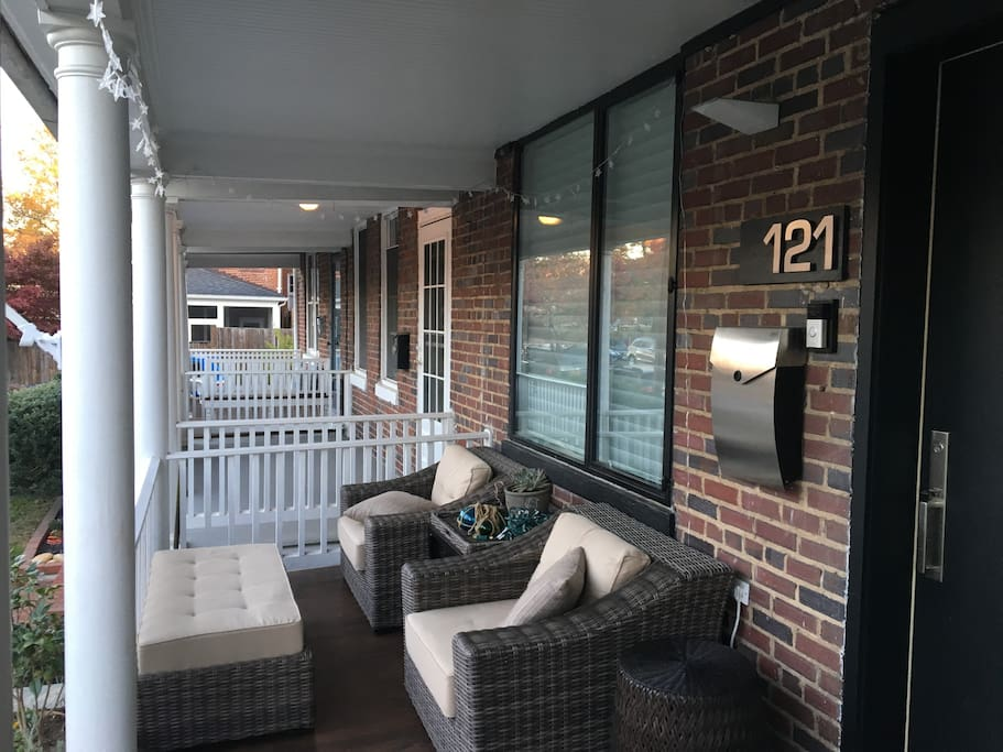 Relaxing mornings on the porch