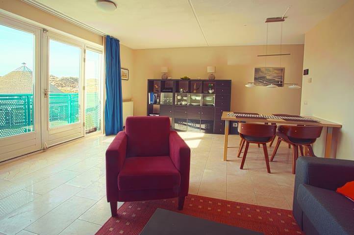Noordzee appartement alleen maar 30m naar zee WIFI