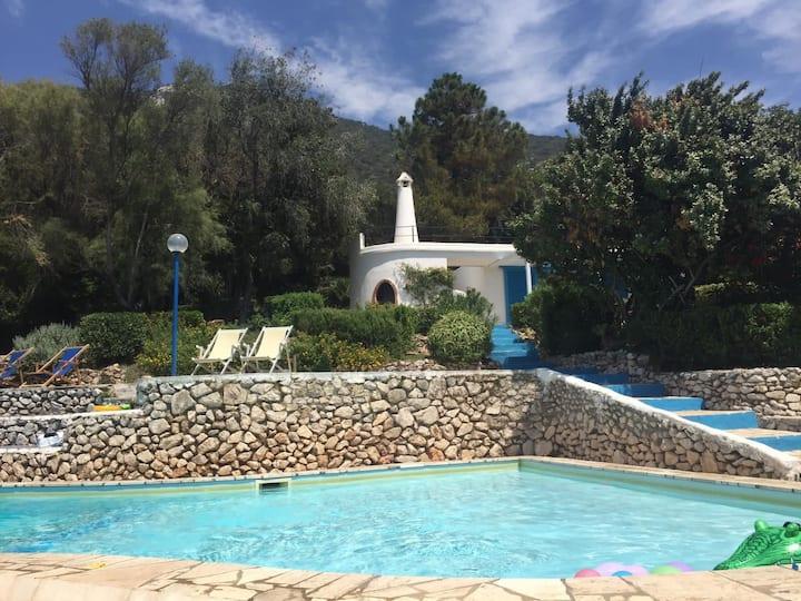Villa  Circeo, piscina e scesa al mare privata