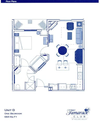 Spacious layout with gas fireplace and balcony off master