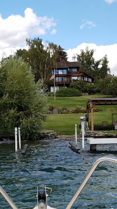 View of the B & B from the Lake