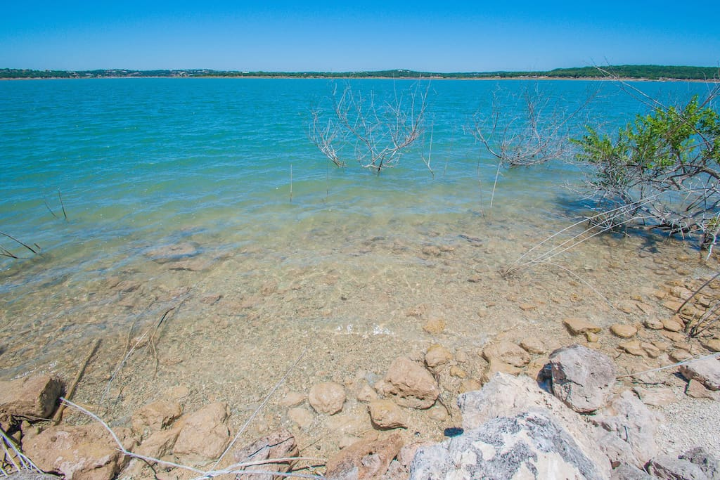 Crystal clear waters of Canyon Lake.