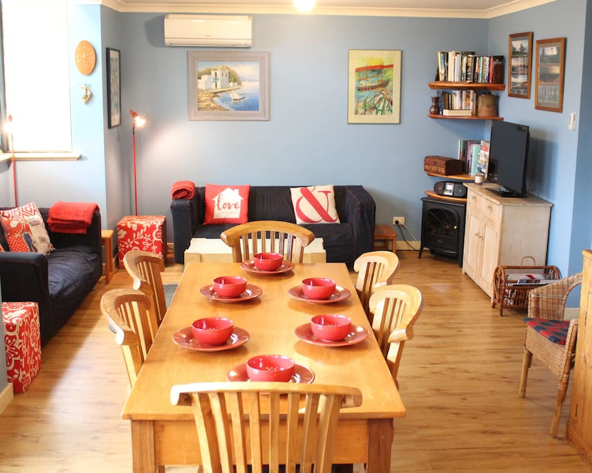 Open-plan living area.