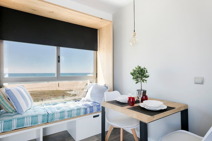 Studio with panoramic terrace facing the sea - Castelldefels - Loft