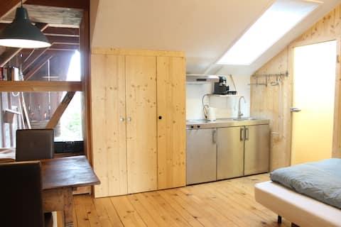 Zentral gelegene Studio-Wohnung in Bauernhaus