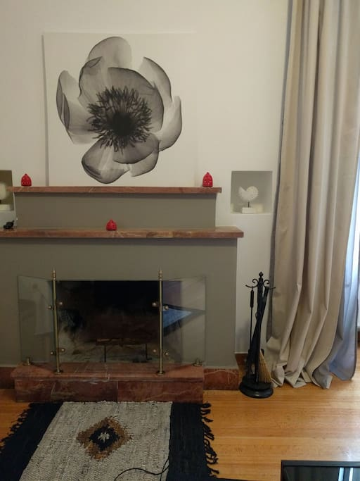 Small living room- fireplace