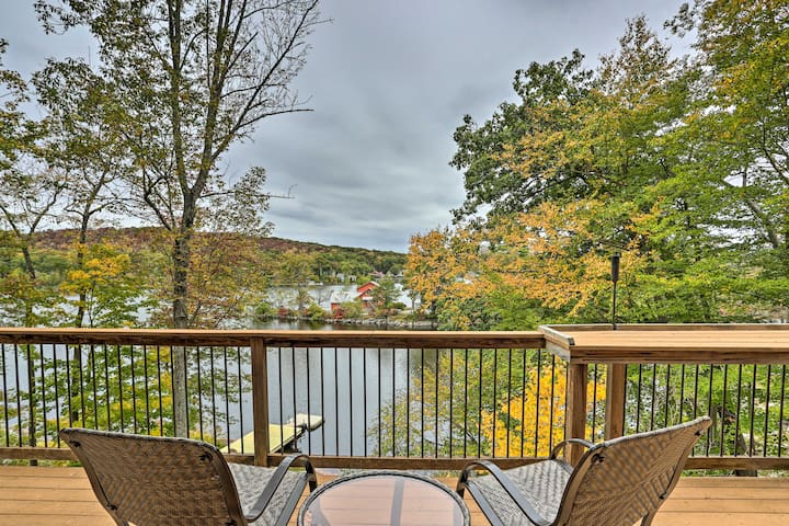 Waterfront Highland Lakes Home w/Deck+Private Dock