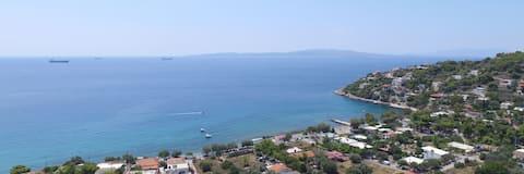 Rekreační dům s majestátním mořem - výhledy na hory
