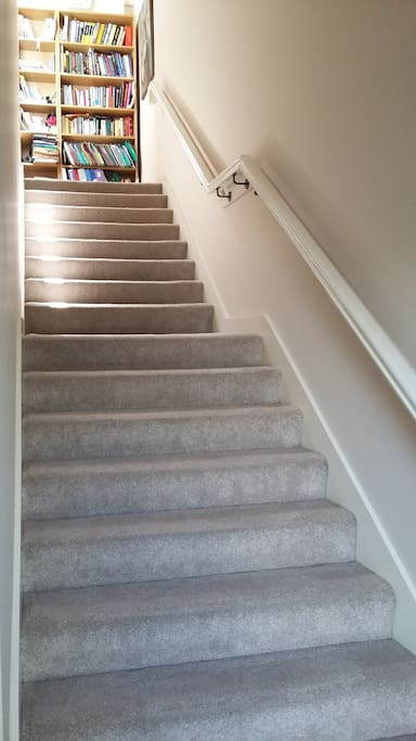 stairs leading to hallway