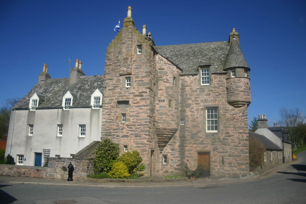 Fordyce Castle with the West Wing on the left.