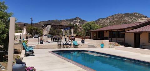 30 Acre Ranch Renovated 2000sqft Adobe House-Pool