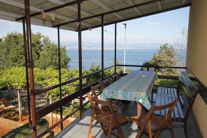 Room with terrace and sea view Medveja (Opatija) (S-7775-b)