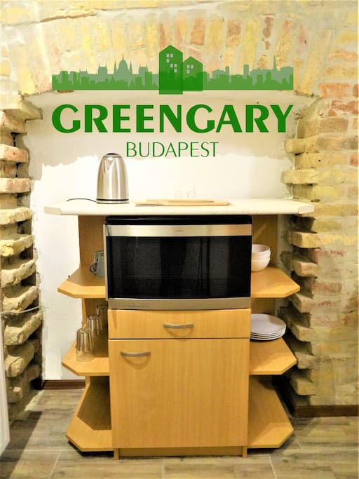 Greengary Budapest aparments Gozsdu kitchen