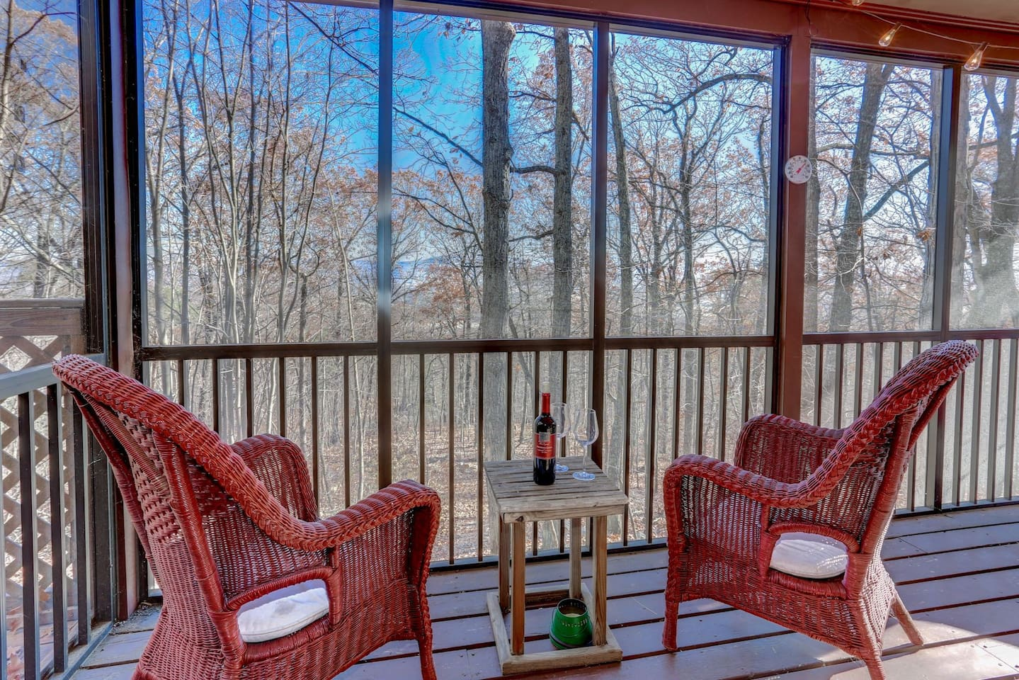 Enjoy the breathtaking views of the Shenandoah Valley from this mountain top retreat.