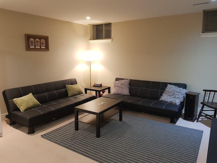 Cozy two bedroom walkout basement