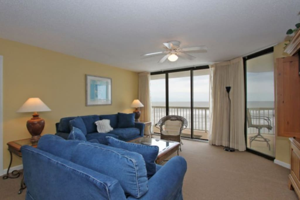 Comfortable Seating - Oceanfront Living Room