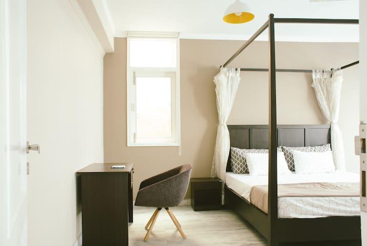 Bedroom 1- King size bed & sofa cum bed