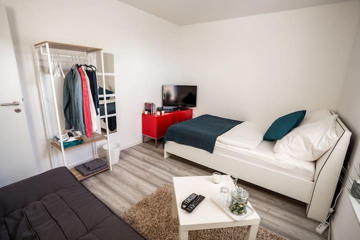 Stilvolles Zimmer, Modern, Netflix, 5 min zum See