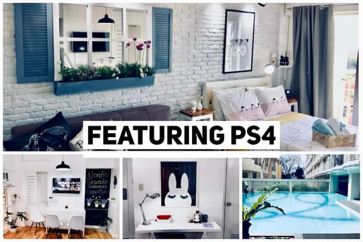 Nordic Grande - 33.5 SQM + Netflix + PS4+ Pool