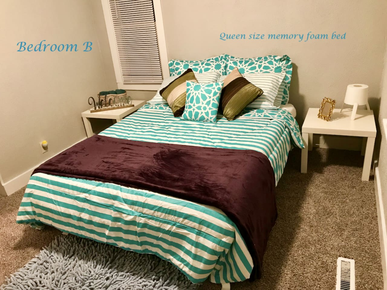 we choose for you, our special guest, high-quality mattress, pillows and bedding.   The beds are Queen's size, green choice Denver's mattress, a great soft pillow 100 natural of certified organic, allergen free 100% natural and Luxurious