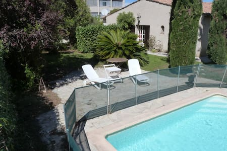 Private apartment in villa+garden&pool:2 rooms 5p - St-Laurent-du-Var
