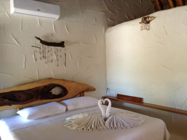 Enjoy & Relax: Cozy beachfront rooms in paradise 3 - Holbox - Hytte