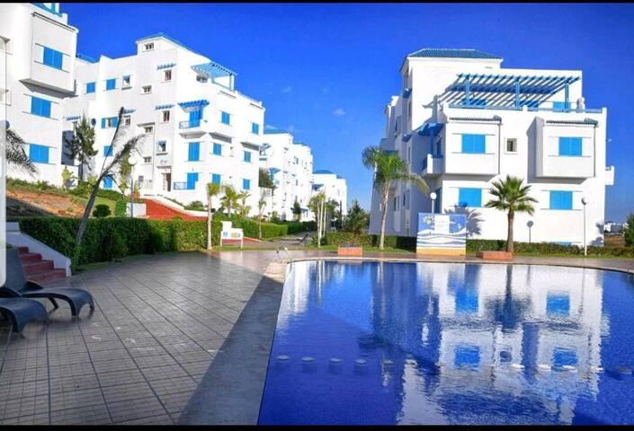 Chambre pour vacances à côté plage et piscine