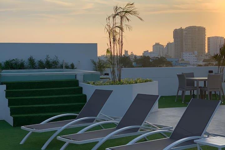 Temporada en Salinas full confort+ rooftop+bbq