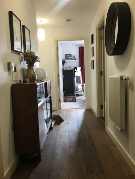 Hallway - with oak floor