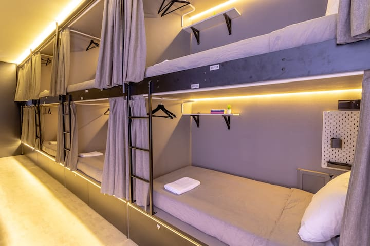 Cool Single Capsule Hostel with All-Day Breakfast