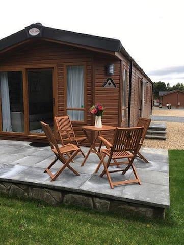 Luxury lodge retreat near Dunning, Perthshire
