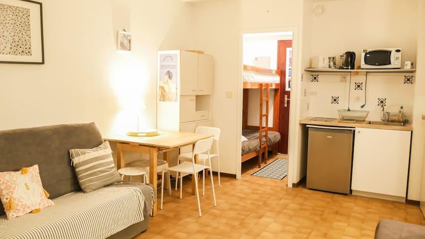 agréable studio cabine idéalement situé