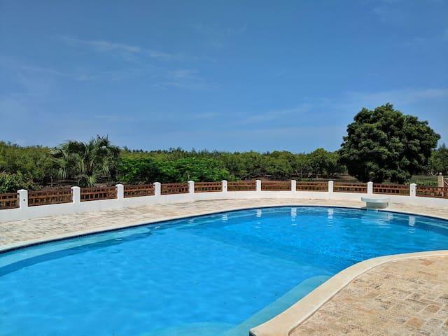 Lakeside House with swimming pool in Watamu, Kenya