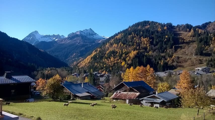 Chalet savoyard au pied du Mont-Blanc, jusqu'à 9p.