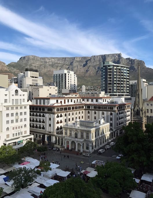 The perfect position -overlooking Greenmarket Sq and iconic Table Mountain