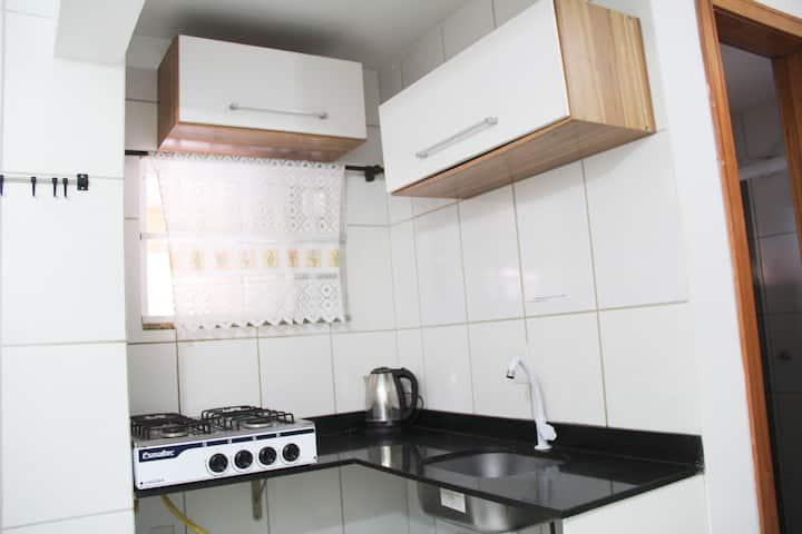 Apartamento de um quarto em Cond fechado / flat