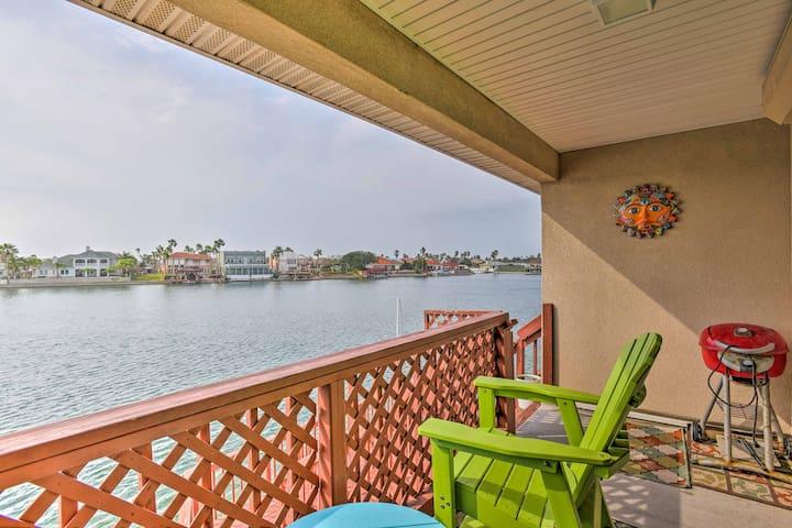 NEW! Waterfront 4BR Corpus Christi Condo w/ Dock!