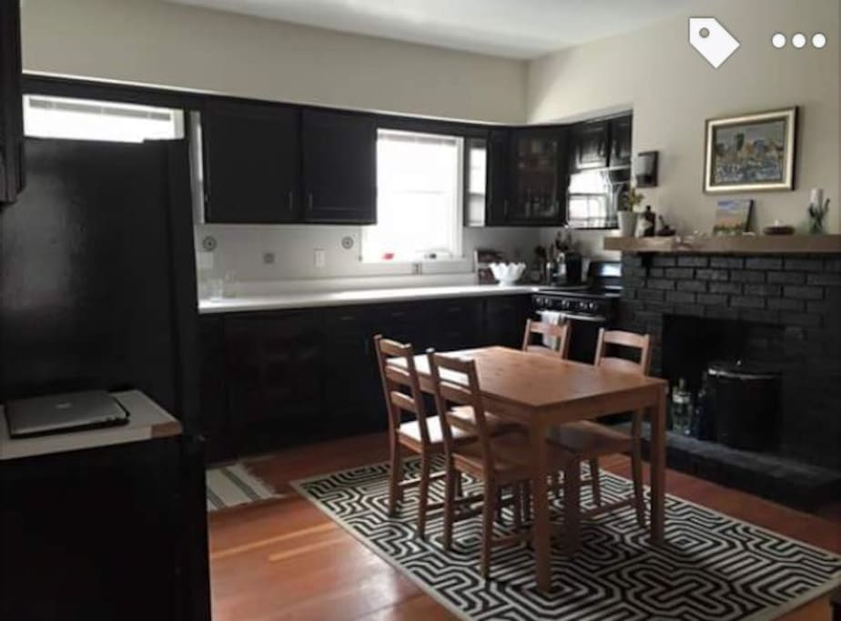 Spacious kitchen with lots of counter space along with new appliances!
