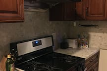 Feel free to use the kitchen at anytime of the day or night. We have basic kitchen supplies.