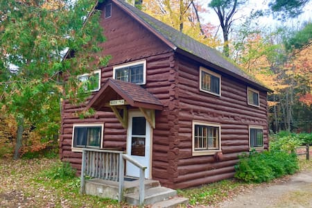 UP Log Cabin with AuTrain Lake Sand Beach Access!