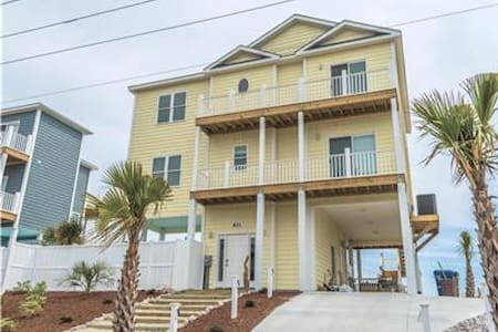*Sea La Ve* NEW 4 BR Ocean/ Beach Front - Private Pool - Elevator - Handicap Friendly - Emerald Isle